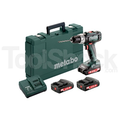 METABO SB 18 L SET TRAPANO AVVITATORE A PERCUSSIONE + 3 BATTERIE Li POWER 2.0 Ah