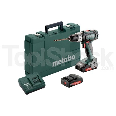 METABO TRAPANO AVVITATORE A BATTERIA 18 VOLT BS 18 L + 2 BATTERIE 2 Ah + VALIGIA