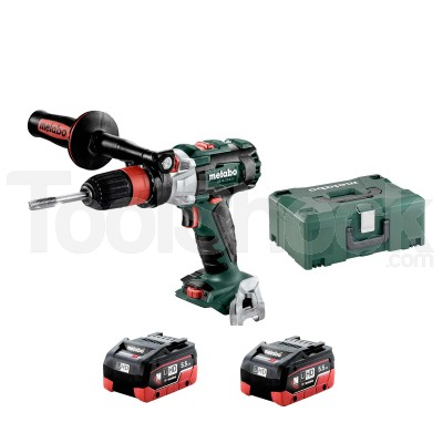 METABO GB 18 LTX BL Q I MASCHIATRICE con 2 BATTERIE 5,5 Ah LiHD in METALOC